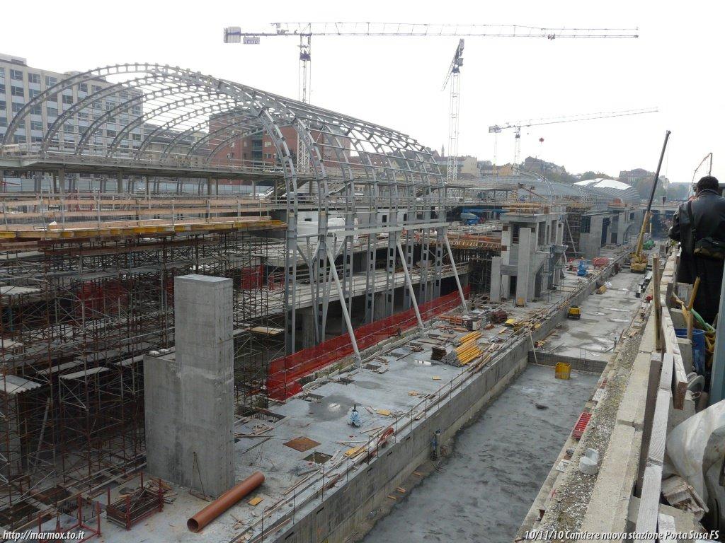 Passante ferroviario di torino cantiere della nuova - Porta susa stazione ...