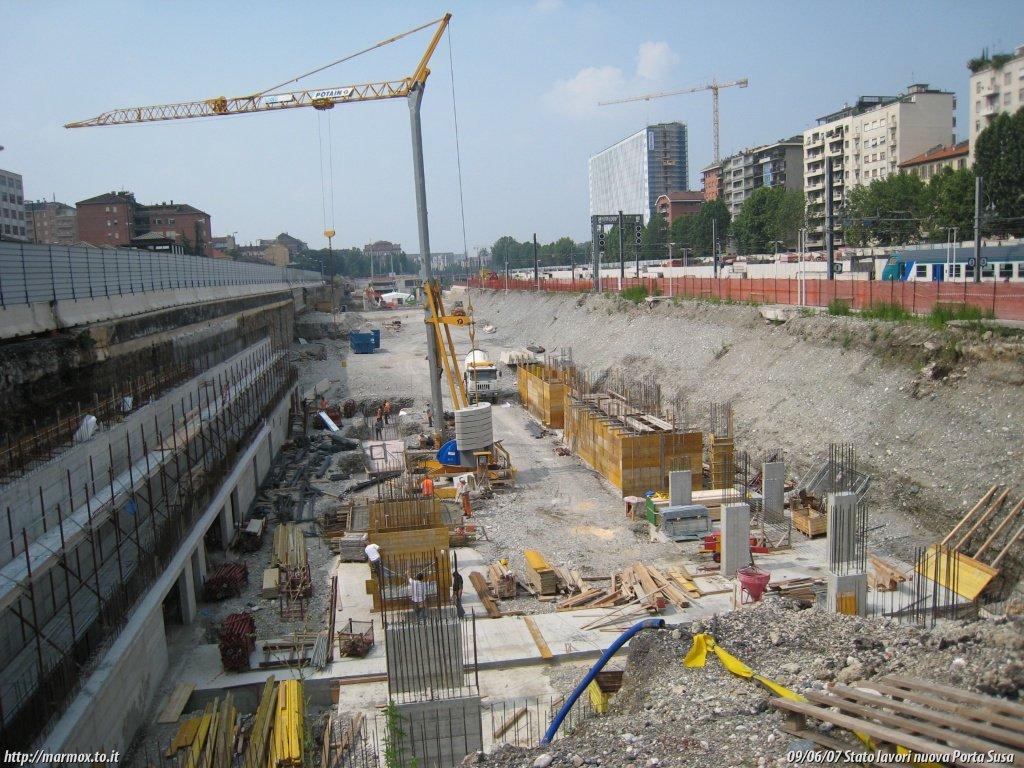 Passante ferroviario di torino cantiere della nuova - Torino porta susa porta nuova ...